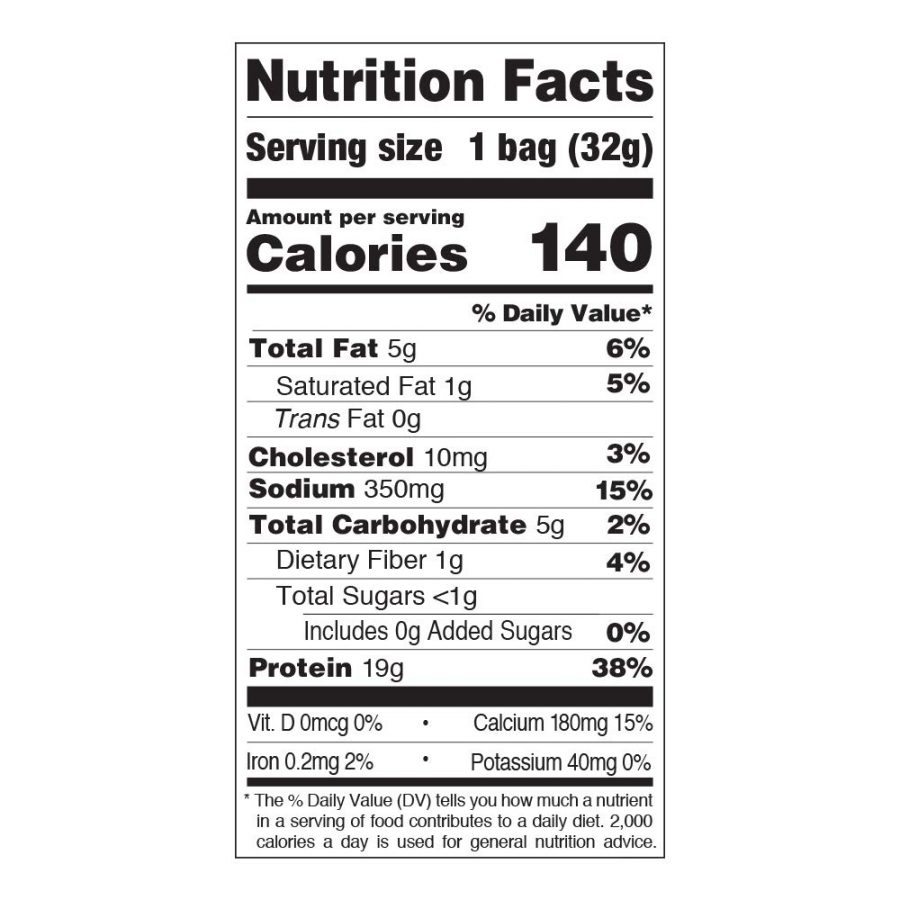 Quest Chip – Orginal (Cheddar & Sour Cream) – Nutrition Facts