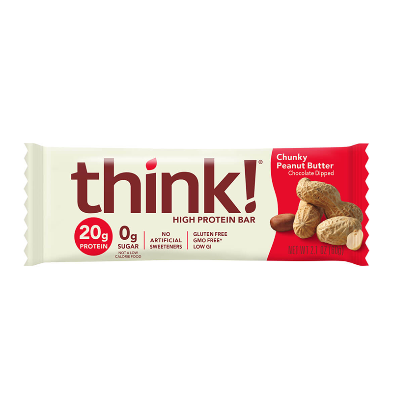 Thinkthin – protein bar – Chunky Peanut Butter – Individual_800x800